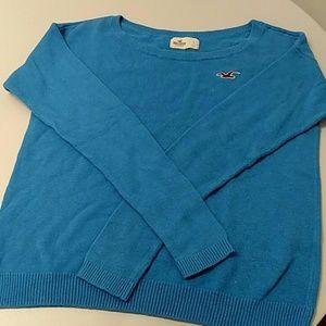Hollister blue sweater